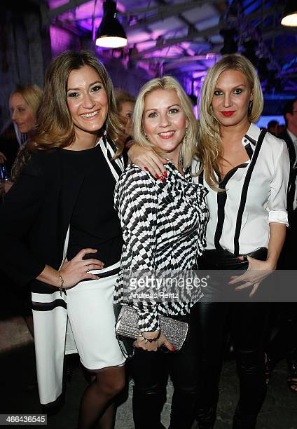 Sandra Thier Aleksandra Bechtel and Magdalena Brzeska attend the Basler fashion show on February 1 2014 in Dusseldorf Germany