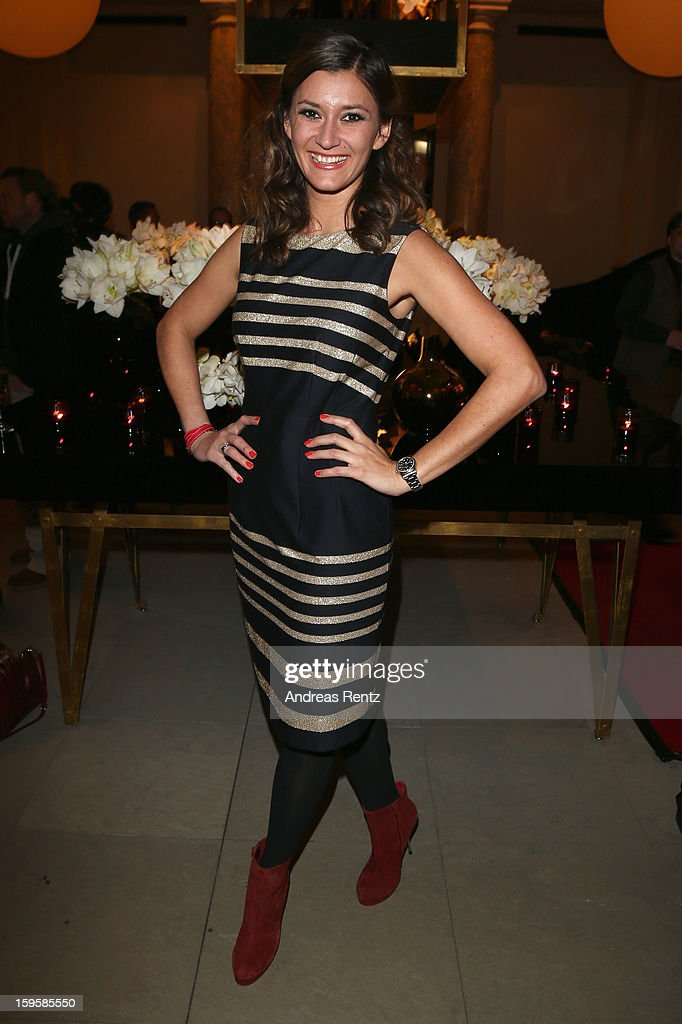 Sandra Thier attends Basler Autumn/Winter 2013/14 fashion show during Mercedes-Benz Fashion Week Berlin at Hotel De Rome on January 16, 2013 in Berlin, Germany.