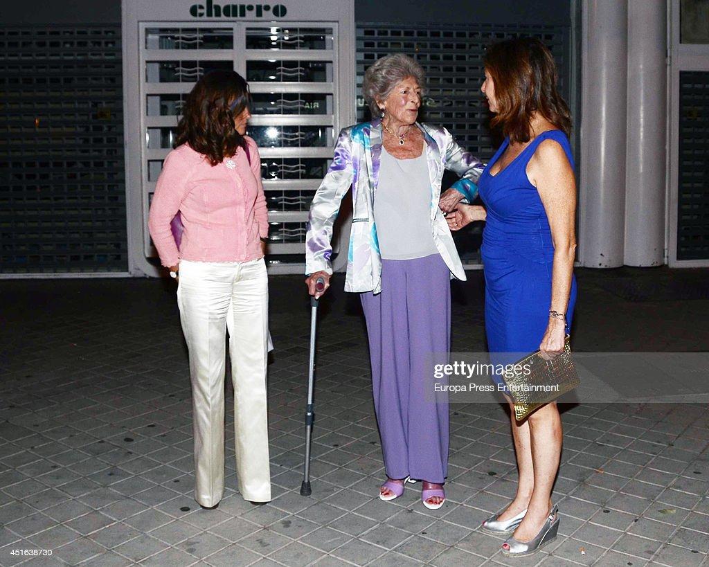 Sandra Torlonia (2L), Maria Palacios (L) and Ana Rosa Quintana (3L) are seen on June 18, 2014 in Madrid, Spain.
