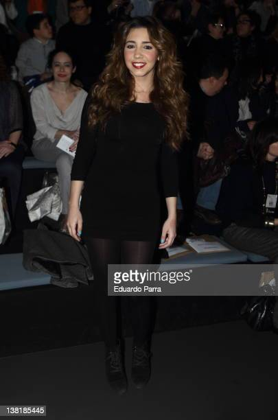 Sandra Ververa attends Sita Murt show during MercedesBenz Fashion Week Madrid A/W 2012 at Ifema on February 4 2012 in Madrid Spain
