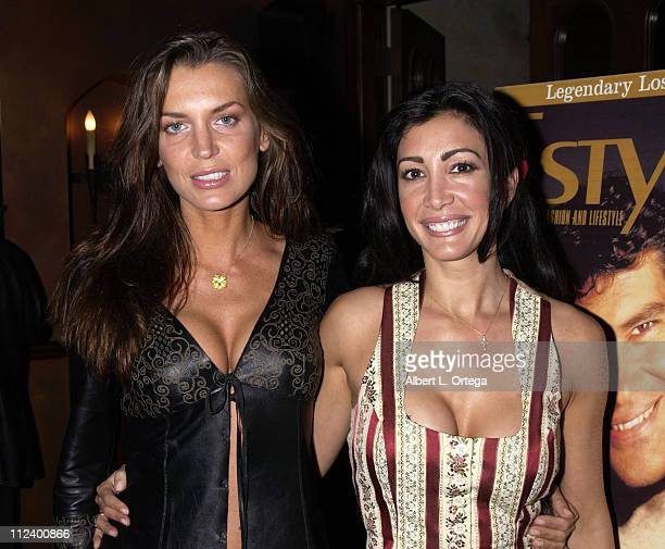 Sandra Vidal and Maria Bravo during 5th Anniversary of Estylo Magazine Party at The Gate in West Hollywood California United States