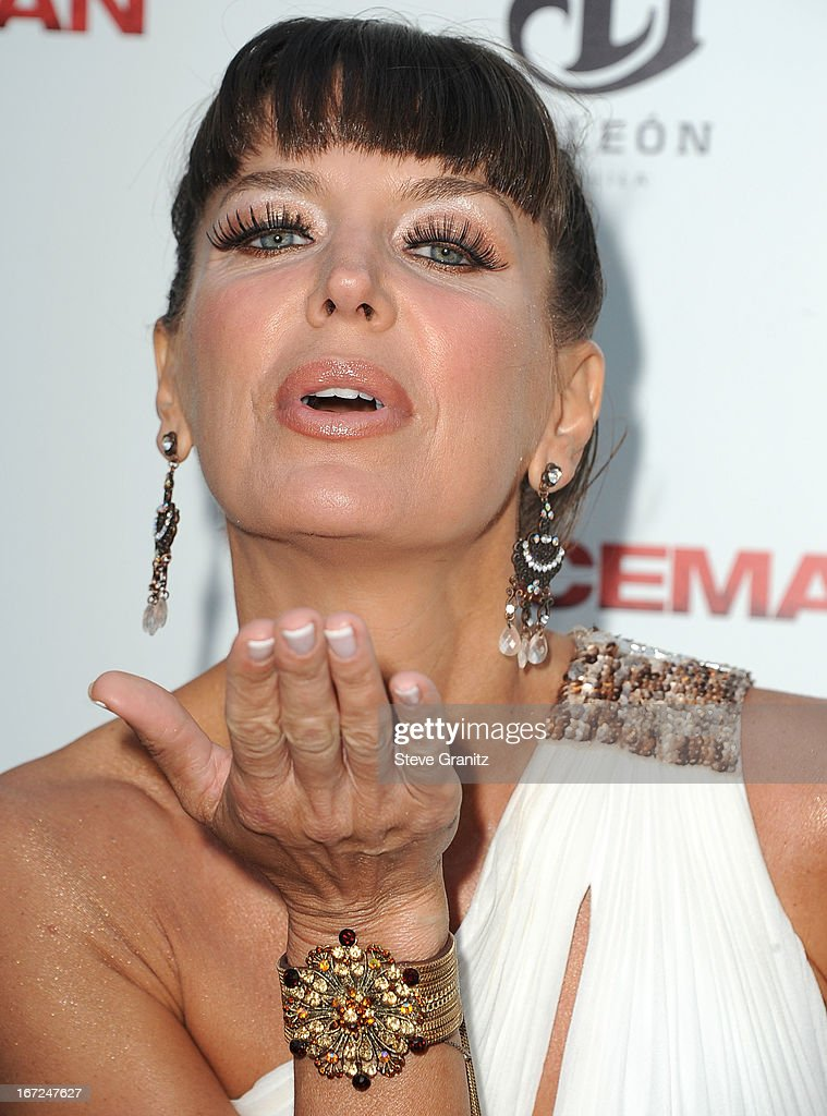 Sandra Vidal arrives at the 'The Iceman' - Los Angeles Premiere on April 22, 2013 in Hollywood, California.