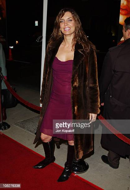 Sandra Vidal during 'Girl With A Pearl Earring' Los Angeles Premiere at The Academy of Motion Pictures Arts Sciences in Beverly Hills California...
