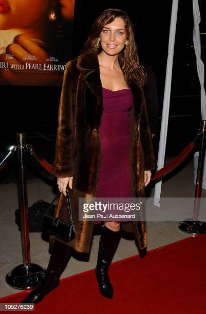 Sandra Vidal during 'Girl With A Pearl Earring' Los Angeles Premiere Arrivals at Academy of Motion Pictures Arts and Sciences in Beverly Hills...