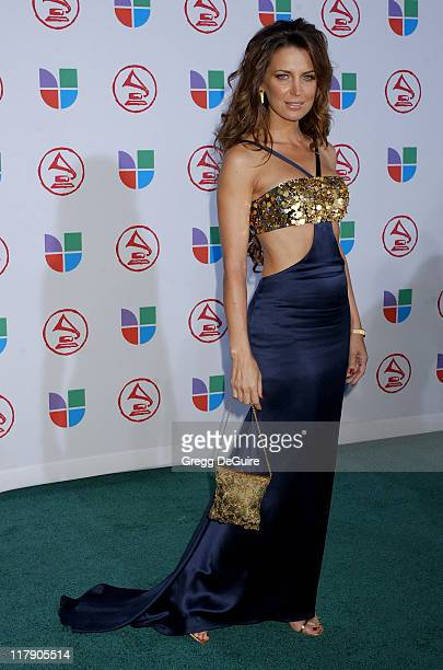 Sandra Vidal during The 6th Annual Latin GRAMMY Awards Arrivals at Shrine Auditorium in Los Angeles CA United States