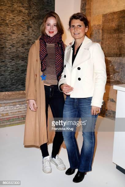 Sandra von Ruffin and Andrea von Goetz und Schwanenfliess attend the Jan Kath Showroom Opening on October 11 2017 in Hamburg Germany