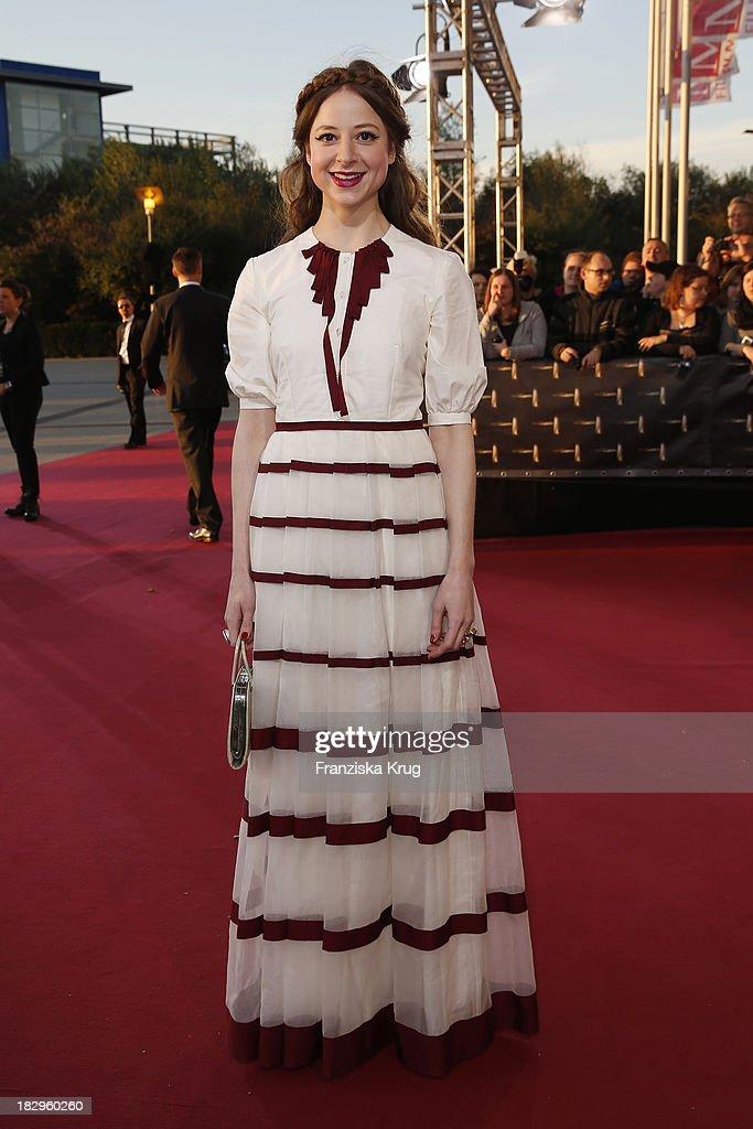Sandra von Ruffin attends the Deutscher Fernsehpreis 2013 - Red Carpet Arrivals at Coloneum on October 02, 2013 in Cologne, Germany.
