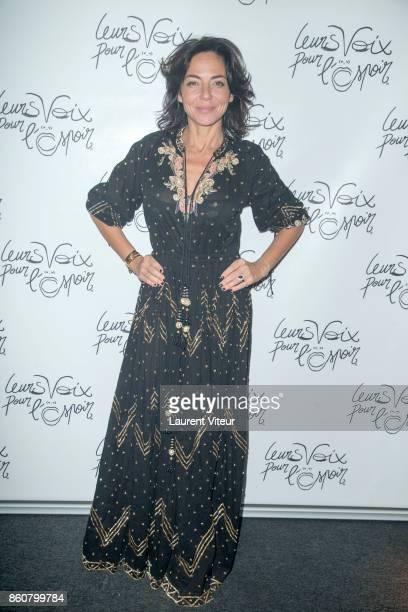Sandra Zeitoun de Matteis attends 'Leurs Voix Pour L'Espoir 2017' at L'Olympia on October 12 2017 in Paris France