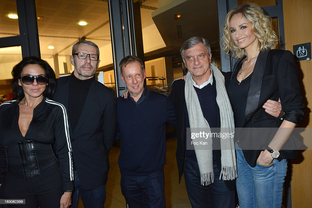 Sandra Zeitoun, <a gi-track='captionPersonalityLinkClicked' href=/galleries/search?phrase=Lambert+Wilson&family=editorial&specificpeople=626933 ng-click='$event.stopPropagation()'>Lambert Wilson</a>, Bill Gaytten, <a gi-track='captionPersonalityLinkClicked' href=/galleries/search?phrase=Sidney+Toledano&family=editorial&specificpeople=758670 ng-click='$event.stopPropagation()'>Sidney Toledano</a>Êand <a gi-track='captionPersonalityLinkClicked' href=/galleries/search?phrase=Adriana+Karembeu&family=editorial&specificpeople=207098 ng-click='$event.stopPropagation()'>Adriana Karembeu</a> attend the John Galliano - Front Row - PFW F/W 2013 at Le Centorial on March 3, 2013 in Paris, France.