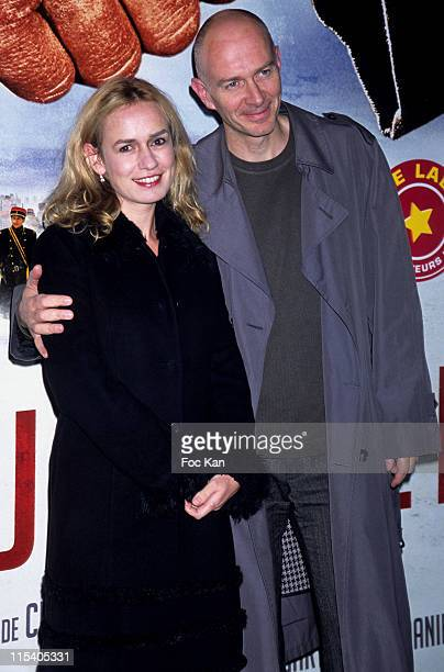 Sandrine Bonnaire and Guillaume Laurent during 'Joyeux Noel' Paris Premiere Photocall at Cinema UGC Normandie in Paris France