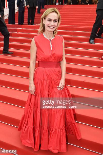 Sandrine Bonnaire attends the 'Amant Double ' screening during the 70th annual Cannes Film Festival at Palais des Festivals on May 26 2017 in Cannes...