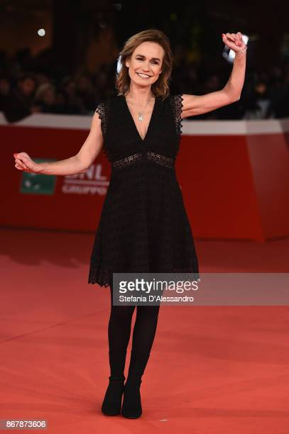 Sandrine Bonnaire walks a red carpet for 'Prendre La Large' during the 12th Rome Film Fest at Auditorium Parco Della Musica on October 29 2017 in...