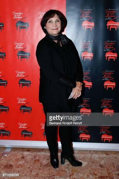 Sandrine Bouglione attends 'Depardieu Chante Barbara' at Le Cirque d'Hiver on November 6 2017 in Paris France