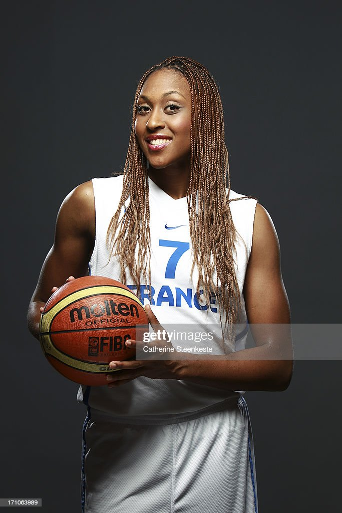 <a gi-track='captionPersonalityLinkClicked' href=/galleries/search?phrase=Sandrine+Gruda&family=editorial&specificpeople=711208 ng-click='$event.stopPropagation()'>Sandrine Gruda</a> # 7 of the FRANCEench Women's National basketball team poses for a portrait during the team's annual studio shoot on May 12, 2013 in Lyon, France.