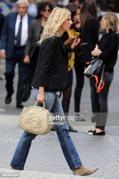 Sandrine Kiberlain arrives at Jean Rochefort's Funeral At Eglise SaintThomas D'Aquin on October 13 2017 in Paris France