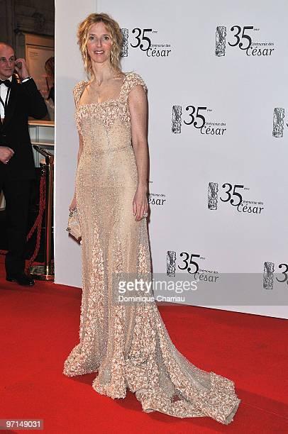 Sandrine Kiberlain attends the 35th Cesar Film Awards at Theatre du Chatelet on February 27 2010 in Paris France