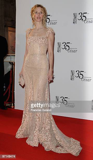 Sandrine Kiberlain attends the 35th Cesar Film Awards held at Theatre du Chatelet on February 27 2010 in Paris France