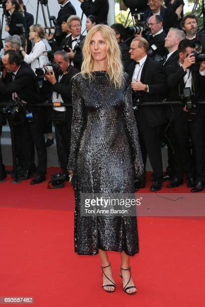 Sandrine Kiberlain attends the 70th anniversary event during the 70th annual Cannes Film Festival at Palais des Festivals on May 23 2017 in Cannes...