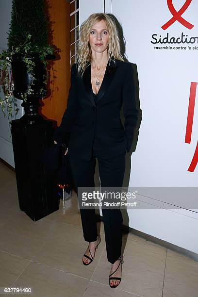 Sandrine Kiberlain attends the Sidaction Gala Dinner 2017 Haute Couture Spring Summer 2017 show as part of Paris Fashion Week on January 26 2017 in...