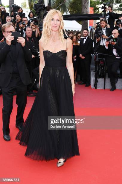 Sandrine Kiberlain attends the 'The Killing Of A Sacred Deer' screening during the 70th annual Cannes Film Festival at Palais des Festivals on May 22...