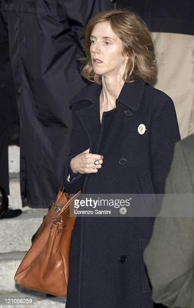 Sandrine Kiberlain during Philippe Noiret Funeral in Paris November 26 2006 at Basilique SainteClotilde in Paris France