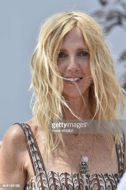 Sandrine Kiberlain during the Christian Dior Haute Couture Fall/Winter 20172018 show as part of Haute Couture Paris Fashion Week on July 3 2017 in...