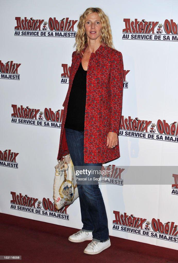 Sandrine Kimberlain attends the 'Asterix & Obelix: Au Service De Sa Majeste' premiere at Le Grand Rex on September 30, 2012 in Paris, France.
