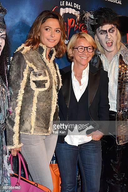 Sandrine Quetier and Ariane Massenet attend 'Le Bal Des Vampires' Premiere At Theatre Mogador on October 16 2014 in Paris France