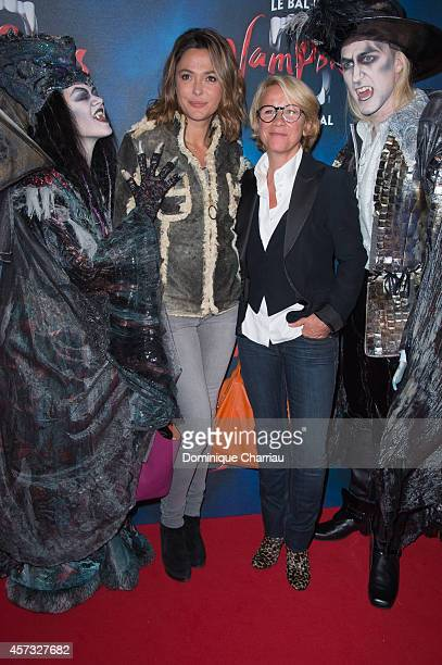 Sandrine Quetier and Ariane Massenet attend the 'Le Bal Des Vampires' Premiere at Theatre Mogador on October 16 2014 in Paris France