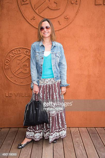 Sandrine Quetier attends the Roland Garros French Tennis Open 2014 Day 12 at Roland Garros on June 5 2014 in Paris France