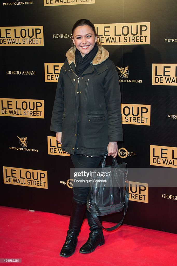 <a gi-track='captionPersonalityLinkClicked' href=/galleries/search?phrase=Sandrine+Quetier&family=editorial&specificpeople=2650172 ng-click='$event.stopPropagation()'>Sandrine Quetier</a> attends the' Wolf of Wall Street' Photocall At Cinema Gaumont Opera Capucines at Cinema Gaumont Opera on December 9, 2013 in Paris, France.