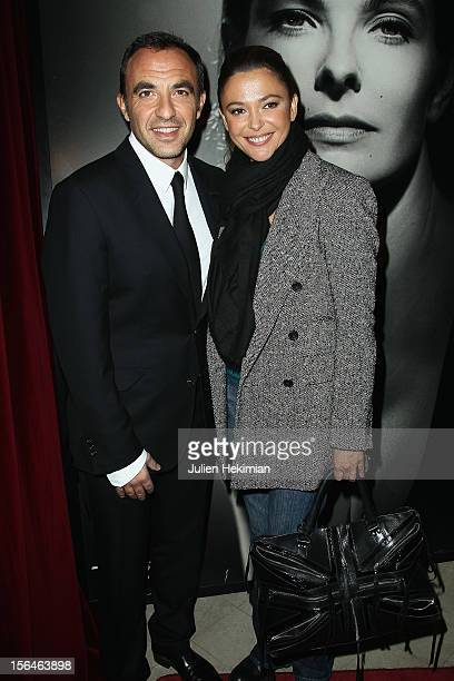Sandrine Quétier and Nikos Aliagas attend 'Studio Harcourt Paris Off' at Studio Harcourt on November 15 2012 in Paris France
