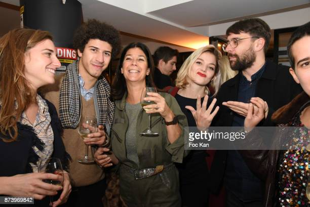 Sandrine Taddei and her son and guests attend the Dinner at 'Le Bouillon' Restaurant as part 2 of 'Les Fooding 2018' Cocktail at Les Follies Pigalle...