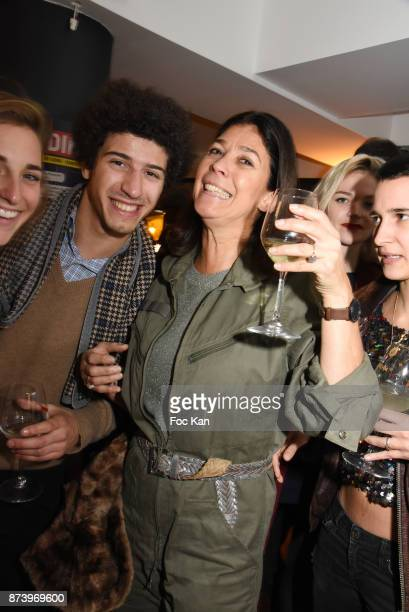 Sandrine Taddei and her son attend the Dinner at 'Le Bouillon' Restaurant as part 2 of 'Les Fooding 2018' Cocktail at Les Follies Pigalle 11 Place...