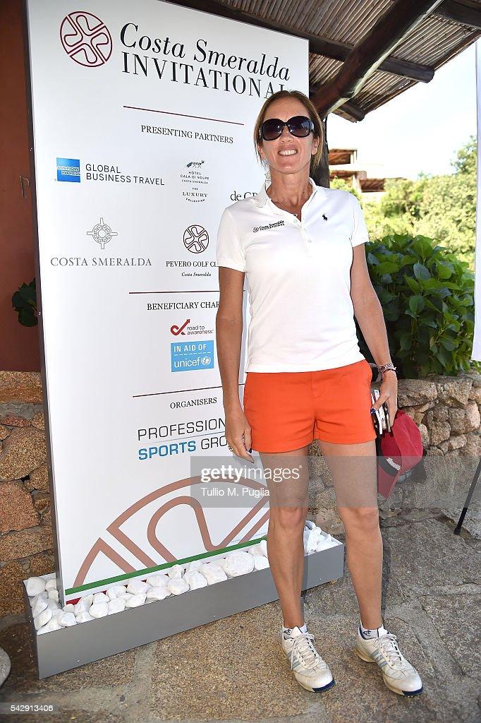 Sandrine Testud arrives at The Costa Smeralda Invitational golf tournament at Pevero Golf Club - Costa Smeralda on June 25, 2016 in Olbia, Italy.