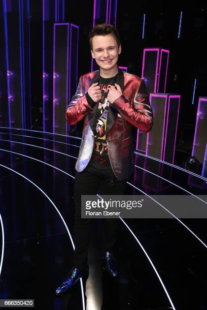 Sandro Brehorst during the first event show of the tv competition 'Deutschland sucht den Superstar' at Coloneum on April 8 2017 in Cologne Germany 13...