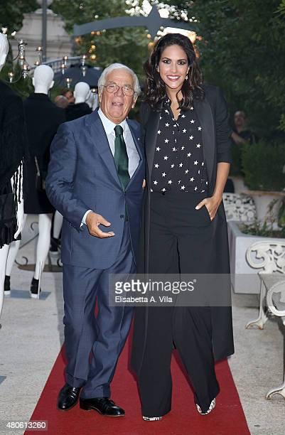 Sandro Ferrone and actress Rocio Munoz Morales attend Sandro Ferrone F/W 2015/16 Collection Presentation as part of AltaRoma AltaModa Fashion Week...