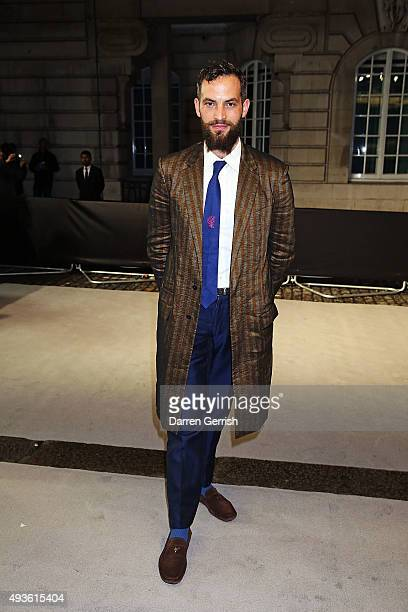 Sandro Kopp attends AnOther x Dior VIP premiere of 'A Bigger Splash' at The Curzon Mayfair on October 21 2015 in London England