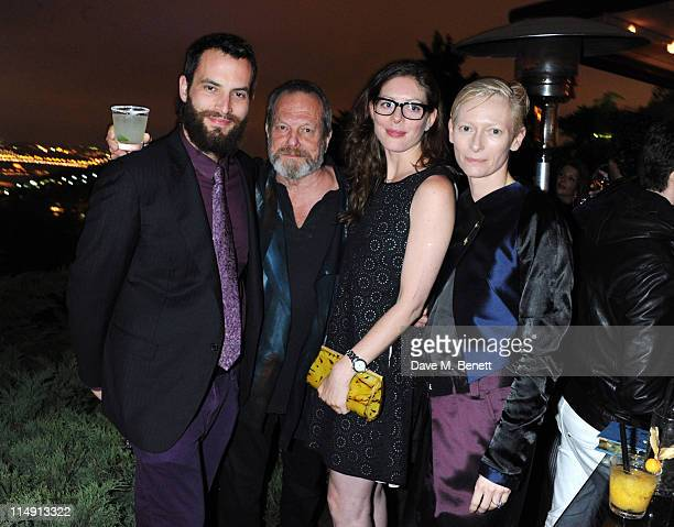 Sandro Kopp Terry Gilliam Amy Gilliam and Tilda Swinton attend the Terry Gilliam honorary dinner at the Istancool Festival by Liberatum and...