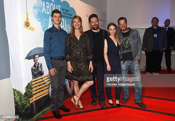 Sandro Lohmann Heike Makatsch Mark Monheim Jasna Fritzi Bauer and Aurel Manthei attend 'About a girl' German Premiere at ARRI Kino on July 8 2015 in...