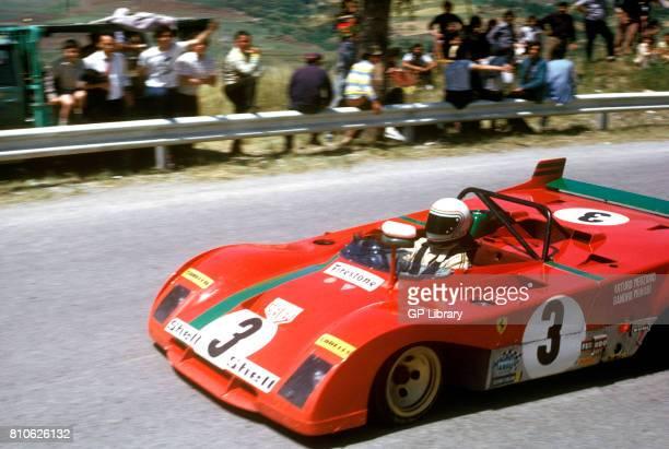 Sandro Munari driving a Ferrari 312PB at Targa Florio 1st