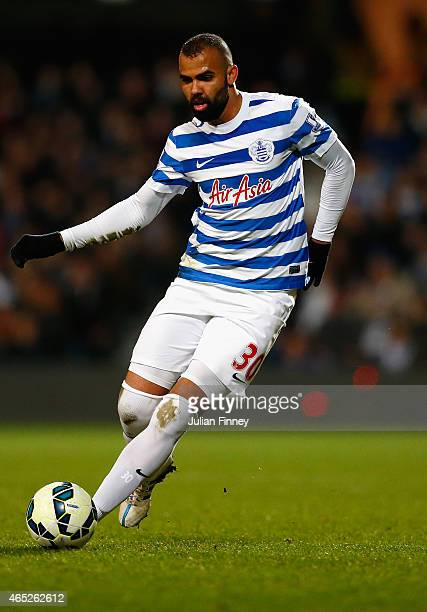Sandro of QPR in action during the Barclays Premier League match between QPR and Arsenal at Loftus Road on March 4 2015 in London England