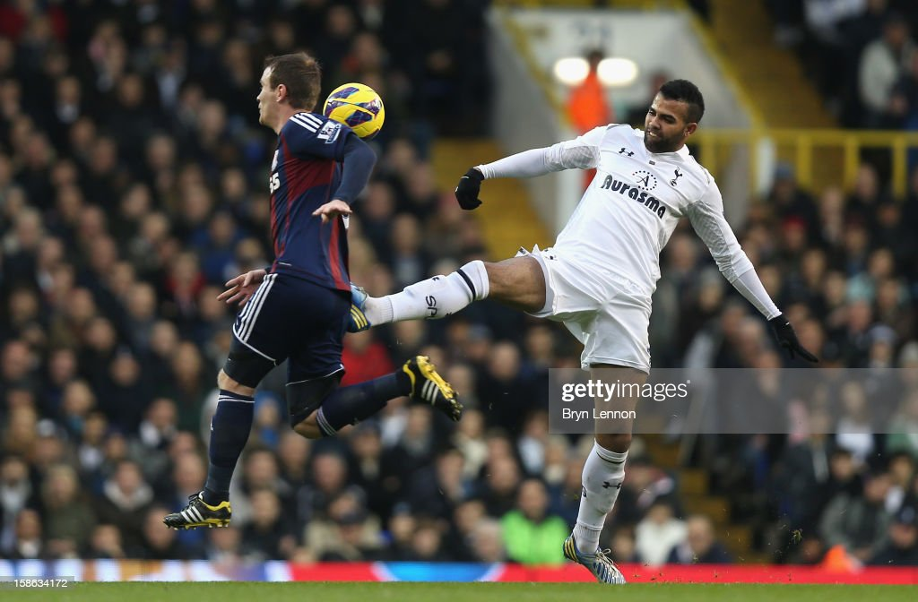 Sandro of Tottenham Hotspur fouls Glenn Whelan of Stoke City during the Barclays Premier League match between Tottenham Hotspur and Stoke City at White Hart Lane on December 22, 2012 in London, England.