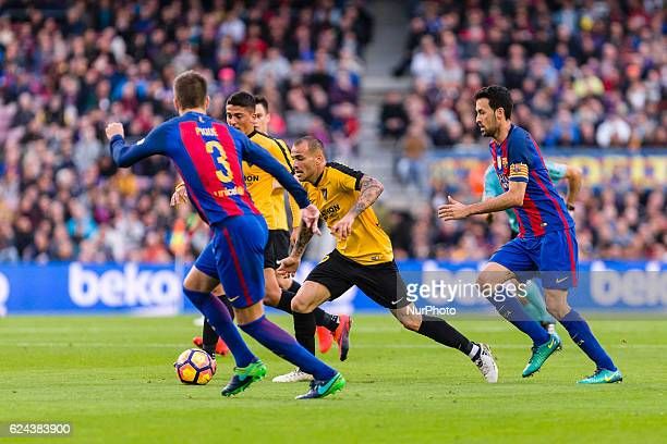 Sandro Ramirez during the match between FC Barcelona vs Malaga CF for the round 12 of the Liga Santander played at Camp Nou Stadium on 19th November...