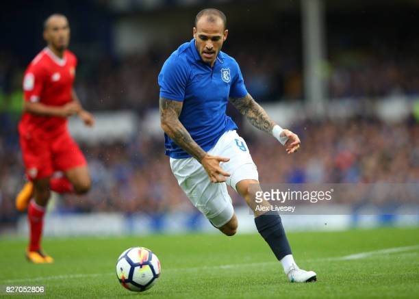 Sandro Ramirez of Everton during a preseason friendly match between Everton and Sevilla at Goodison Park on August 6 2017 in Liverpool England
