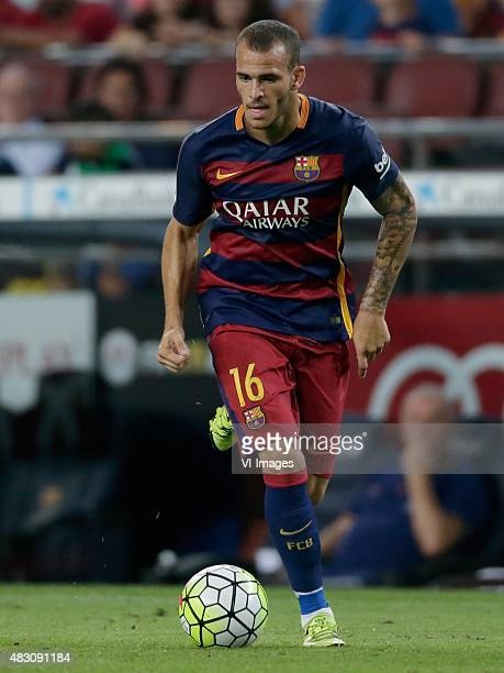 Sandro Ramirez of FC Barcelona during the Joan Gamper Trophy match between Barcelona and AS Roma on August 5 2015 at the Camp Nou stadium in...