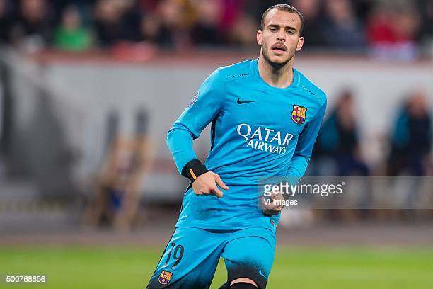 Sandro Ramirez of FC Barcelona during the UEFA Champions League match between Bayer 04 Leverkusen and FC Barcelona on December 9 2015 at the BayArena...