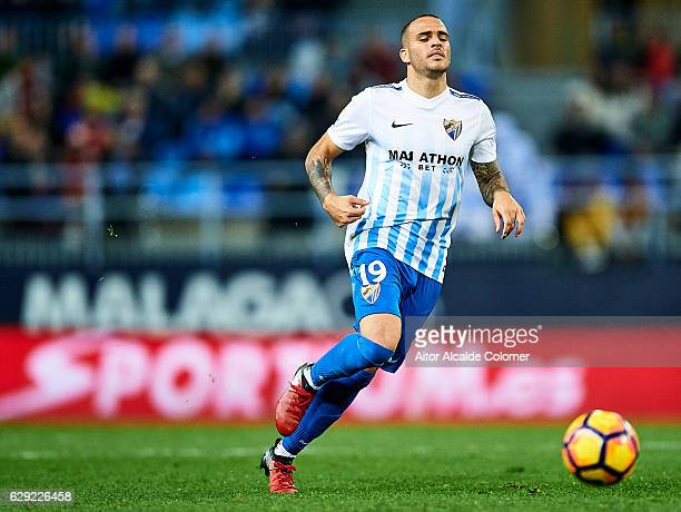 Sandro Ramirez of Malaga CF in action during La Liga match between Malaga CF and Granada CF at La Rosaleda Stadium December 9 2016 in Malaga Spain