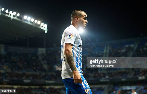 Sandro Ramirez of Malaga CF looks on during La Liga match between Malaga CF and Granada CF at La Rosaleda Stadium December 9 2016 in Malaga Spain