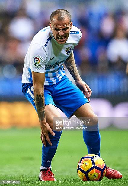 Sandro Ramirez of Malaga CF reacts during La Liga match between Malaga CF and Granada CF at La Rosaleda Stadium December 9 2016 in Malaga Spain